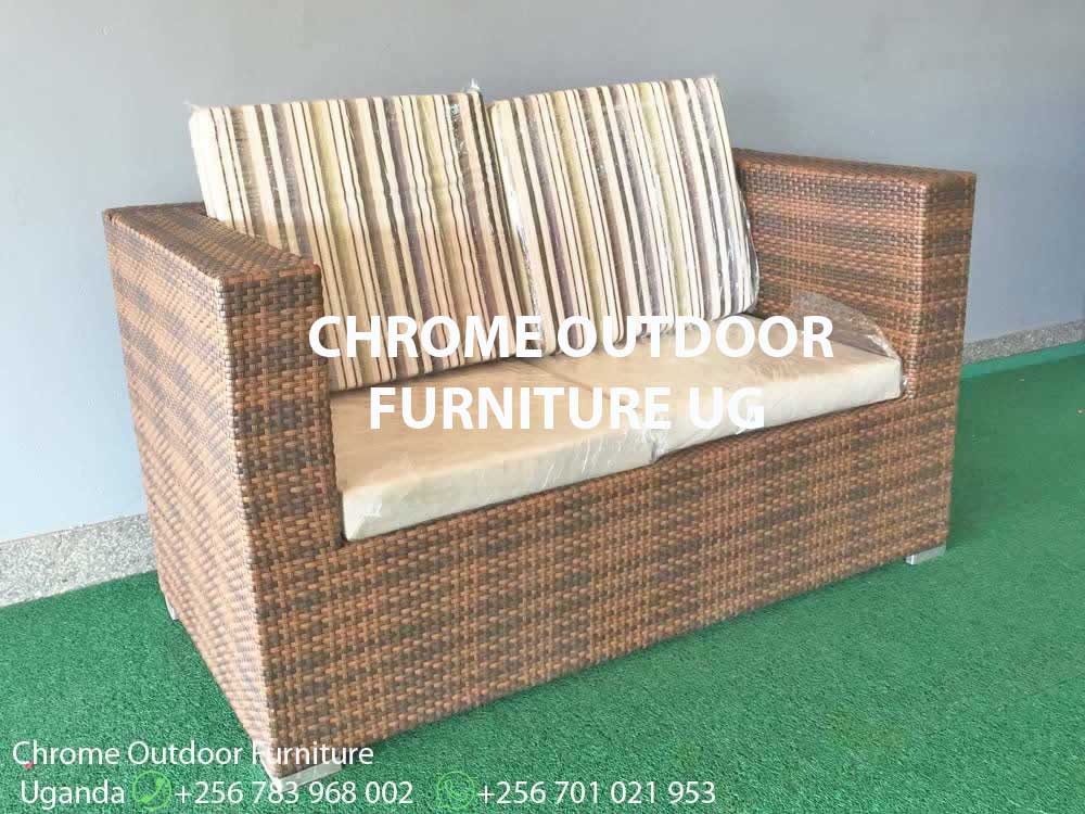 2 Seater Balcony & Outdoor Chair Uganda, Garden and Outdoor Furniture for Sale Kampala Uganda, Balcony, Patio Furniture Uganda, Resin Wicker, All Weather Wicker Uganda, Outdoor and Garden Furniture Manufacturer in Uganda, Chrome Outdoor Furniture Uganda